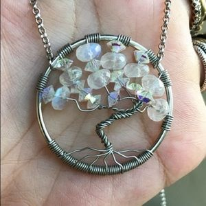 Silverskylight Jewelry - AAA moonstones & swarovski crystal tree of life